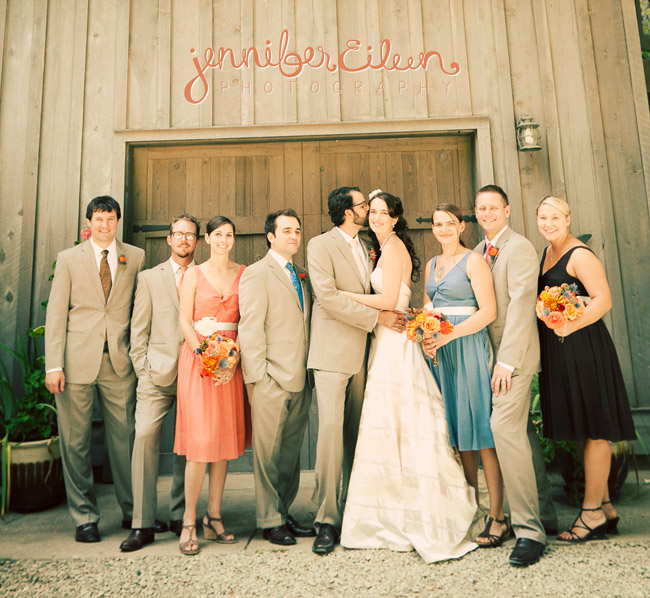 Orange, Red, Blue, and Brown Wedding | Nevada City, CA « Jennifer ...